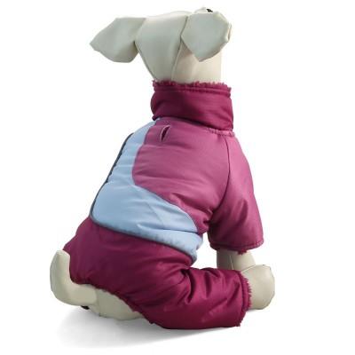Зимний комбинезон малиновый для собак