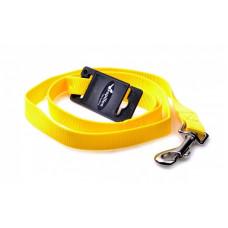 Поводок нейлоновый 1,2м/20мм жёлтый