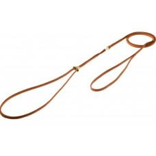 Ринговка для собак с кольцом, светло-коричневая