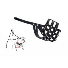 Намордник кожаный N3: щенок овчарки