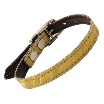 Ошейник-мини кожаный двойной с кольцом, 1*25см