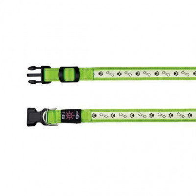 Ошейник светящийся для собак USB, M-L