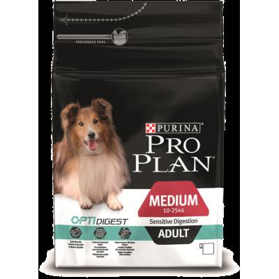 Pro Plan корм для собак средних пород с ягненком и рисом