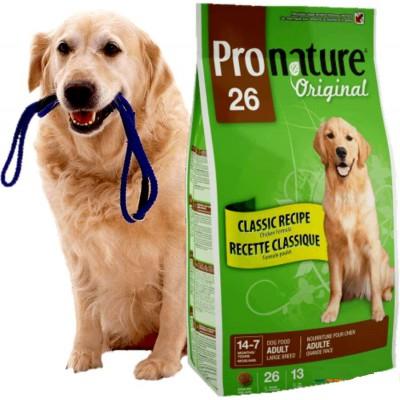 Скидка 30% на корм Pronature 26 для взрослых собак крупных пород