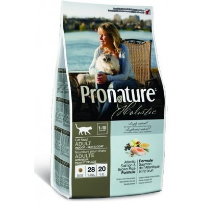 Корм Pronature Holistic для кошек с лососем