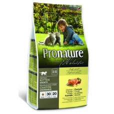 Корм Pronature Holistic для котят с цыплёнком