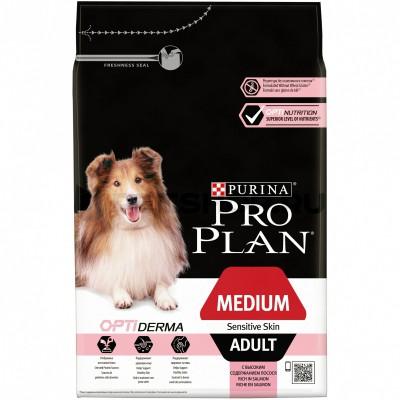 Pro Plan корм для собак средних пород с лососем и рисом