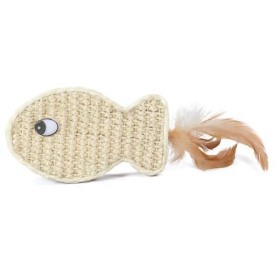 """Игрушка для кошек из сизаля """"Рыбка"""", 120*70мм"""