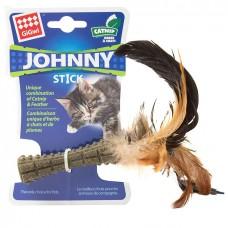 Игрушка для кошек прессованная кошачья мята с пером GiGwi