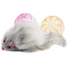 Набор игрушек для кошек 2 мяча, мышь