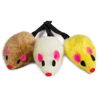 Набор игрушек для кошек 3 мыши