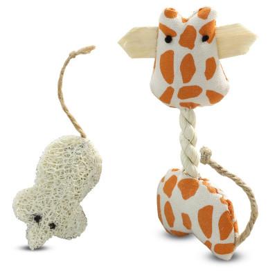 """Набор игрушек NATURAL для кошек """"Жираф и мышка"""""""