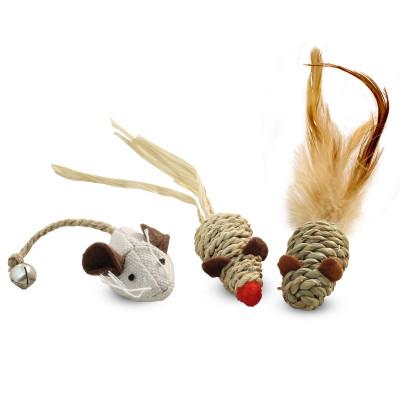 """Набор игрушек NATURAL для кошек """"Три мышонка"""""""