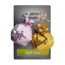 """Набор игрушек для кошек 2 шт. """"Мешочки"""" с бубенцами, 7см"""