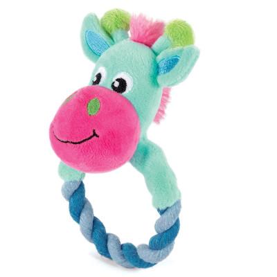 Игрушка для щенков мягкая Жираф с кольцом