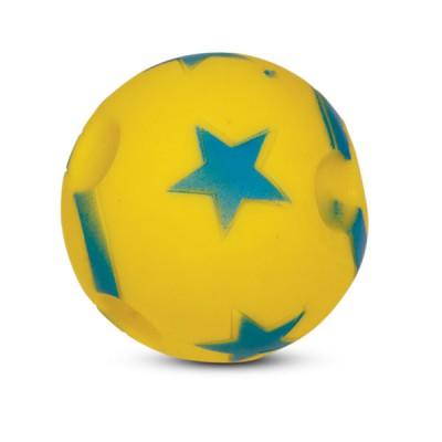 Игрушка для собак мяч со звездами виниловый