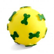 """Игрушка для собак из винила """"Мяч с косточками"""", d60мм"""