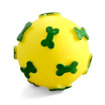"""Игрушка для собак из винила """"Мяч с косточками"""", 6 см"""