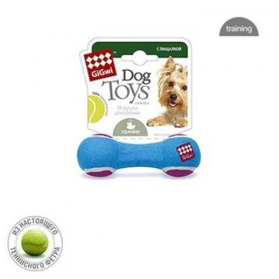 """Игрушка для собак """"Гантель с пищалкой"""" малая"""
