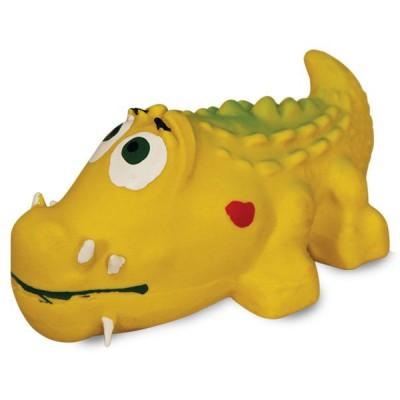 """Игрушка для собак из латекса """"Крокодил"""", 100мм"""