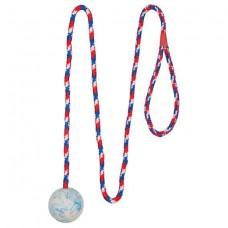 Игрушка для собак мяч на веревке, 5 см