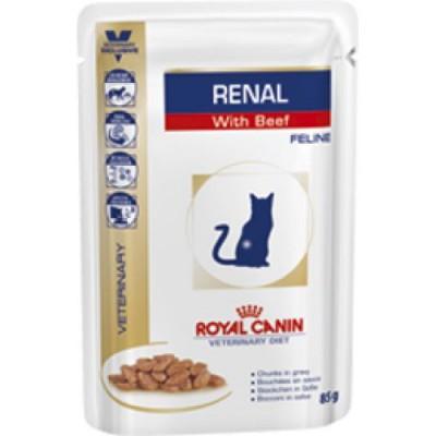 Royal Canin Renal диета для кошек при почечной недостаточности, говядина