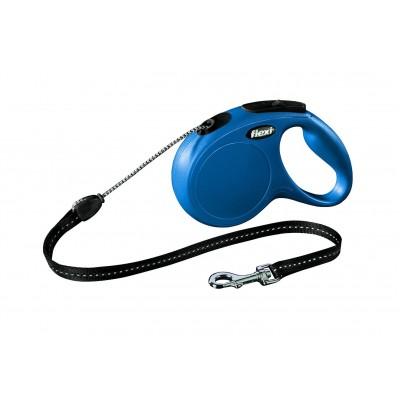 Flexi New Classic M рулетка-трос голубая 5м/20кг