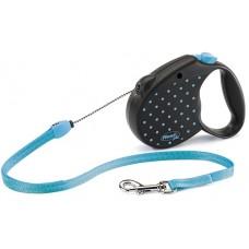 Flexi Color M рулетка-трос голубая 5м/20кг