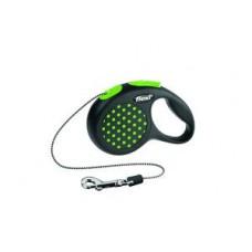 Flexi Design XS рулетка-трос для собак зелёная 3м/8кг