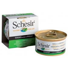 """Schesir корм для кошек """"Тунец, цыпленок"""""""