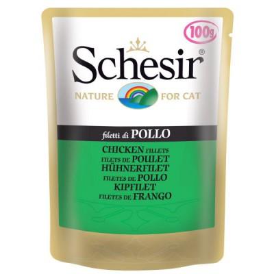 "Schesir корм для кошек ""Филе цыпленка"" (пауч)"