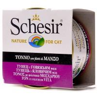 """Schesir корм для кошек """"Тунец, говядина"""""""