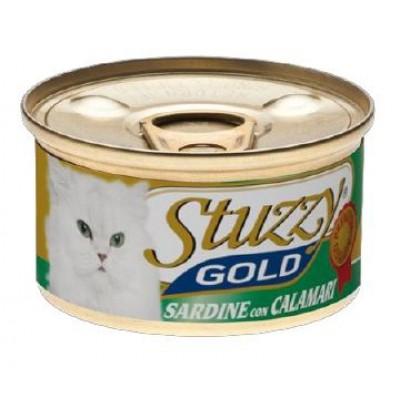 """Stuzzy Gold корм для кошек """"Сардины и кальмары в собственном соку"""""""