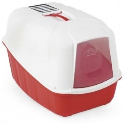 Туалет-домик для кошек Komoda красный 54*39*40 см.