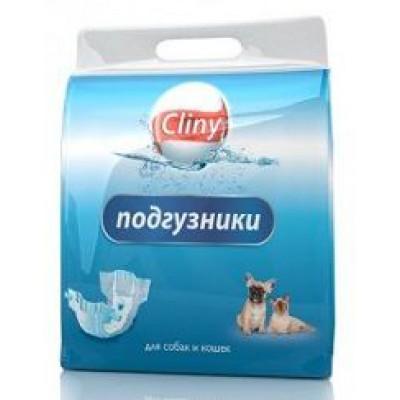 Cliny Подгузники для кошек 3-6кг S (10шт)