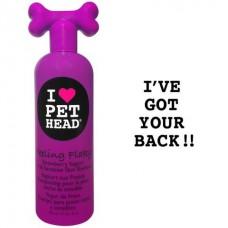 Pet Head клубнично-йогуртовый шампунь для сухой и чувствительной кожи собак, с юккой, ромашкой и шелком