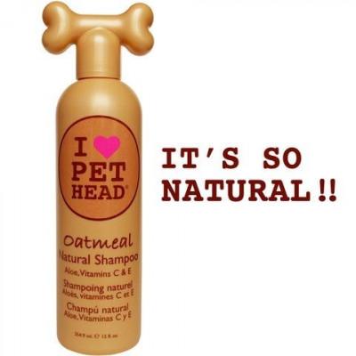 """Pet Head шампунь """"100% натуральный"""" с маслом овсянки и жожоба, без сульфатов и парабенов"""