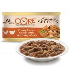 Консервы Wellness CORE для кошек измельченное куриное филе с индейкой в соусе
